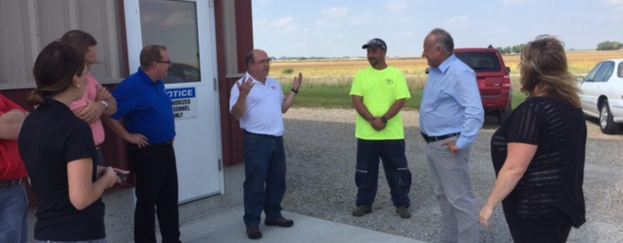 Congressman Steve King (Iowa) visits Christensen Farms Truck Wash